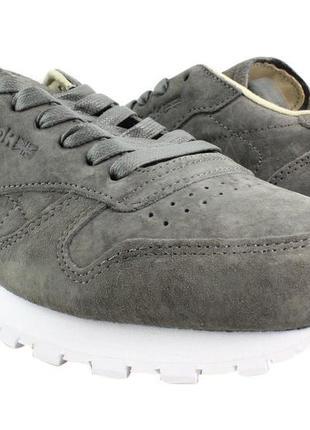 Кроссовки reebok classic leather lst urban grey
