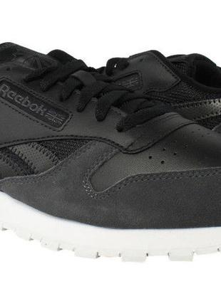 Кроссовки reebok classic leather mo black