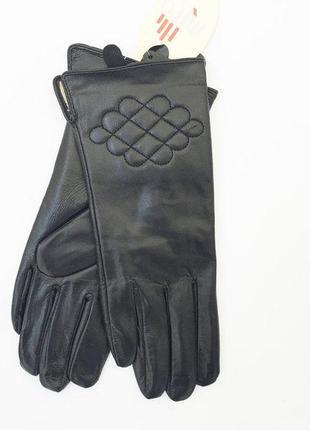 Женские перчатки из натуральной  кожи на меху разные размеры