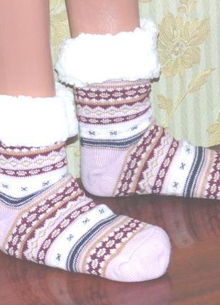 Носки женские на овчине с тормозами, очень теплые и мягкие