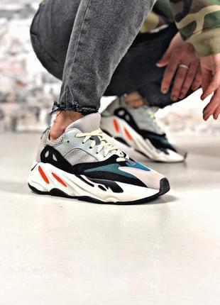 Прекрасные женские кроссовки adidas yeezy kanye west 700 серые