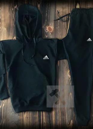 Мужской спортивный костюм Adidas Адидас чёрный чёрный с серым