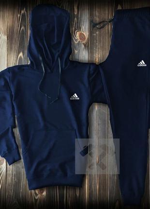 Мужской спортивный костюм Адидас Adidas синий спортивный костюм