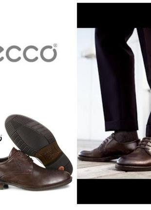 Кожаные туфли экко ecco henley оригинал р.42 новые