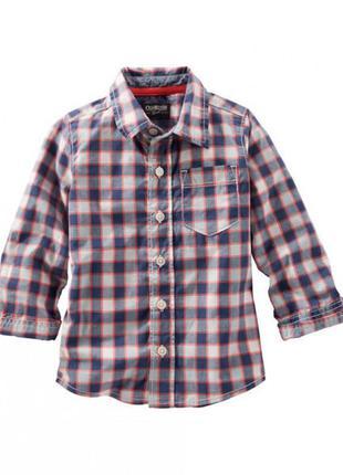 Oshkosh рубашка в клетку для мальчика