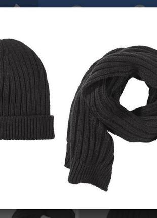 Стильный комплект: вязаные шапка и шарф на мальчика от peppert...