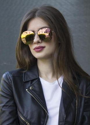 Очки женские солнцезащитные   зеркальные
