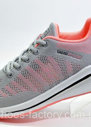 Женские беговые кроссовки Baas, Серый/Розовый, купить недорого
