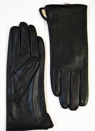 Женские перчатки из козьей кожи на меху)
