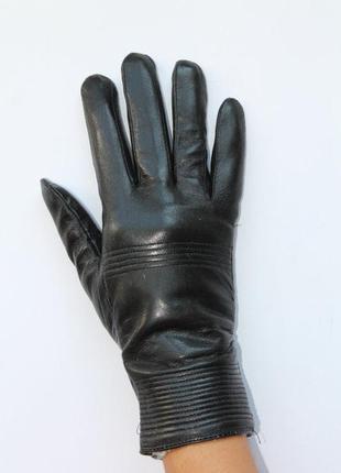 Женские перчатки из натуральной  кожи на меху))