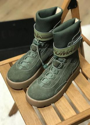 Puma x fenty scuba boot olive
