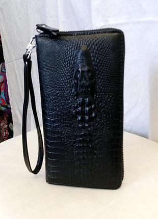Клатч кошелёк мужской крокодил оригинал