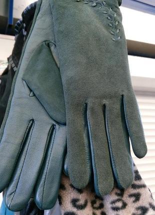 Перчатки женские натуральный замш