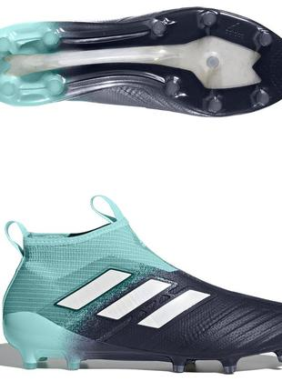 Футбольные бутсы без шнурков adidas ace 17+ purecontrol fg