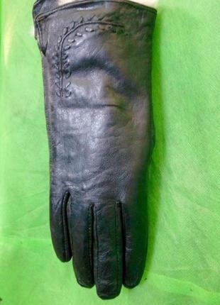 Перчатки женские натуральная кожа на кролике