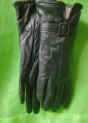 Перчатки женские натуральная кожа