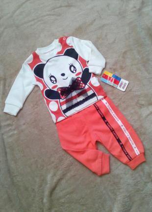 Милый спортивный костюмчик с пандой для девочки 9 мес. 😍🐼😍