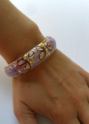 Фиолетовый разьемный браслет с эмалью