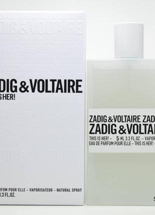 Zadig & Voltaire This is Her_Оригинал EDP_5 мл затест парф.вода