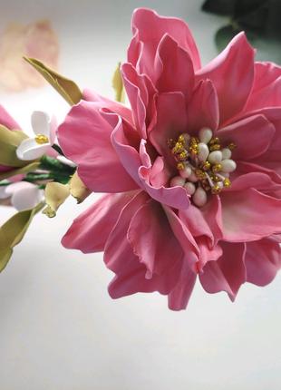 Обруч с весенними цветами