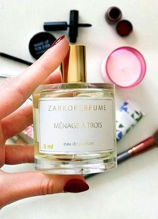 Zarkoperfume Ménage à Trois_Оригинал EDP_5 мл затест парф.вода