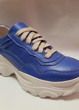 Кожаные кроссовки от производителя flamanti 37 р. и под заказ