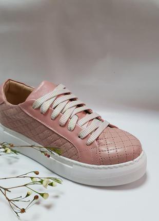 Кожаные розовые кеды от производителя flamanti 36-40р.
