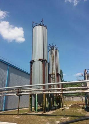 Силос нержавеющий емкость термос 100м3 мука вода концентрат масло