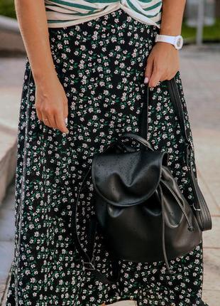 Рюкзак женский кожзам mini цвет черный