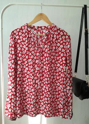Стильная рубашка рубашка в цветочный принт