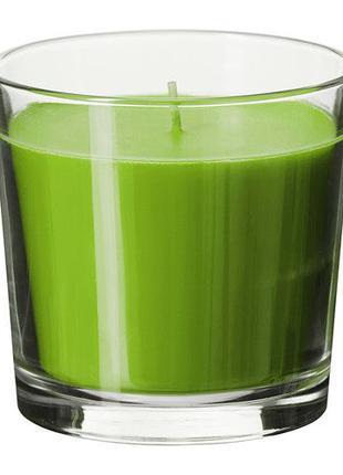 Ароматическая свеча в стакане яблоко Икеа. Отличный подарок! В...