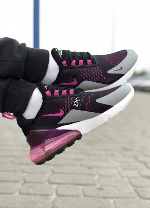 Стильные женские кроссовки nike air max 270 чёрные