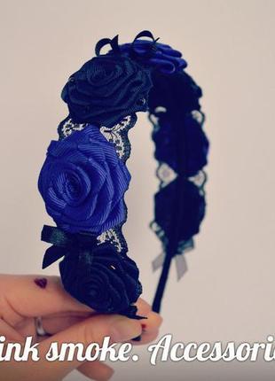 Украшение, ободок с розами для волос, обруч на голову, венок, ...