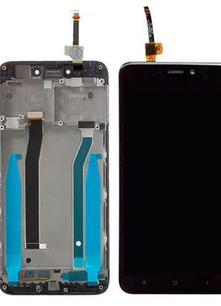 Модуль c рамкою : дисплей сенсор рамка для Xiaomi Redmi 4X black