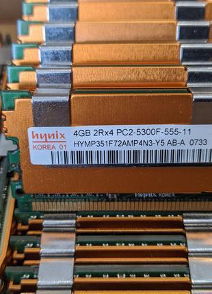 Серверная память DDR2 4GB 2Rx4 PC2-5300F Поддержка Mac Pro МНОГО