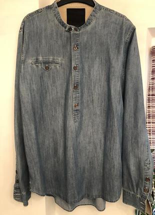 Оригинальная мужская джинсовая рубашка dnd