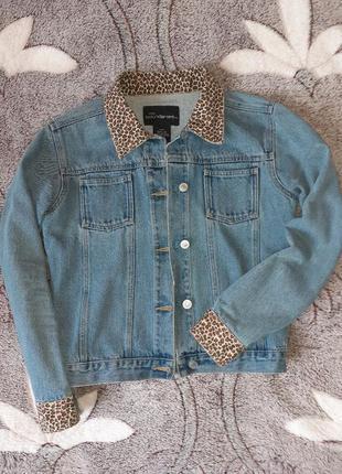 Стильный пиджак с леопардовыми вставками♡