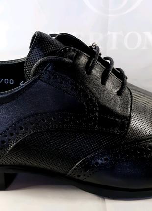 <<Стильные кожаные классические туфли-броги BERTONI.40,41,42,44.