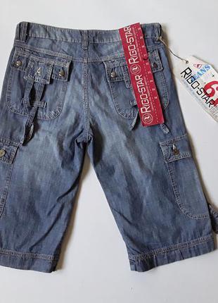 Джинсовые шорты карго от armani