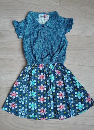 Стильное платье под джинс, на 5 лет