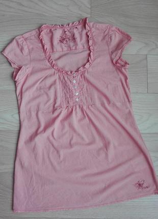 Удлиненная блуза в меленькую клетку