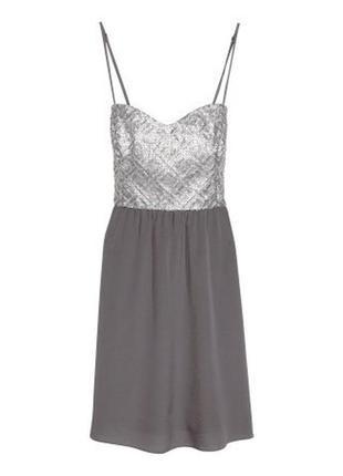 Нарядное платье в пайетки женское h&m