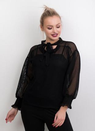 Оригинальная блуза сетка с майкой