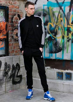 Костюм спортивный Adidas черный