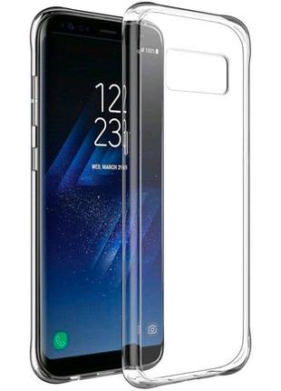 Силиконовый чехол для Samsung Galaxy S8 Plus G955 прозрачный
