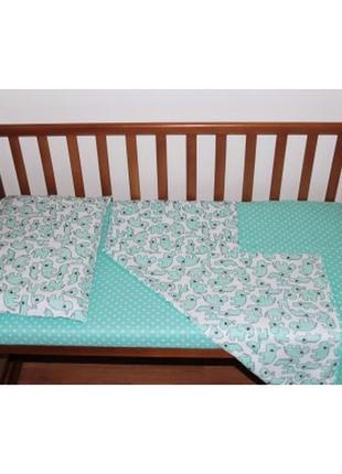 Постельный комплект ручной работы в детскую кроватку