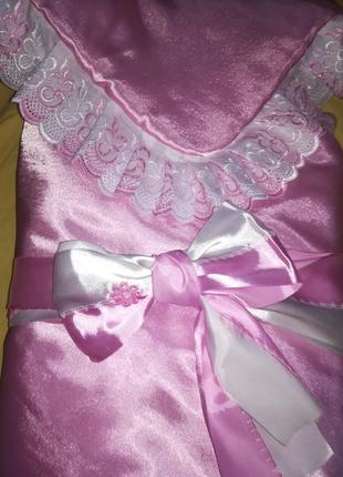 Конверт - одеяло для новорожденной
