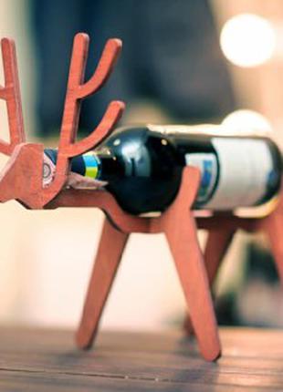 """Подставка под вино """"Олень"""" деревянная"""
