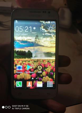 Samsung Galaxy Core Prime (White) SM-G360HZWDSEK с чехлом