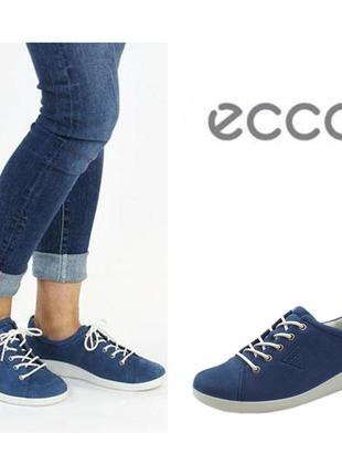 Кожаные кеды кроссовки экко ecco soft 2.0 оригинал р.35 индоне...